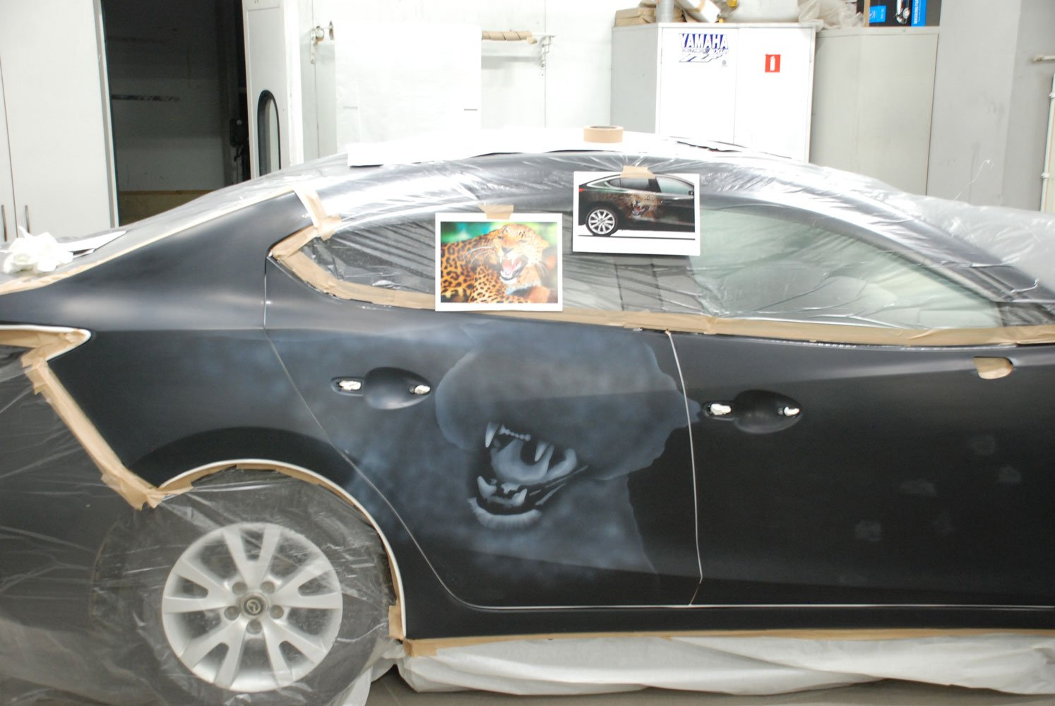 эскиз рисунка на авто