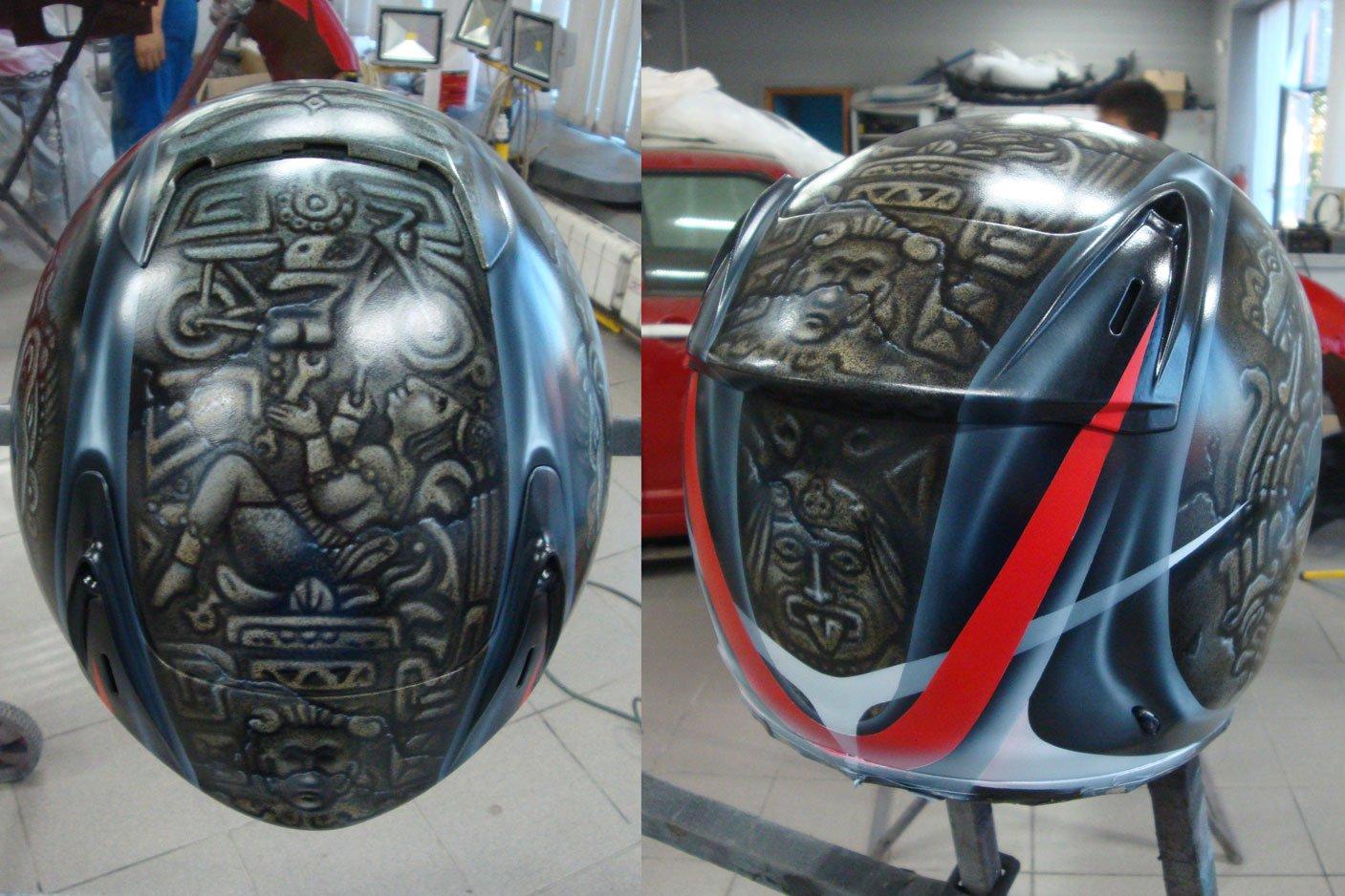 шлем вид сверху