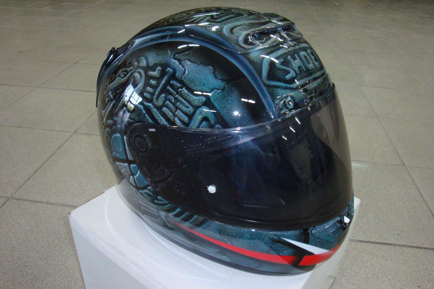 шлем для мото с рисунком