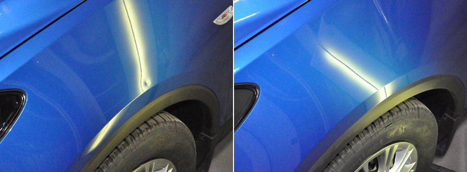синее крыло автомобиля