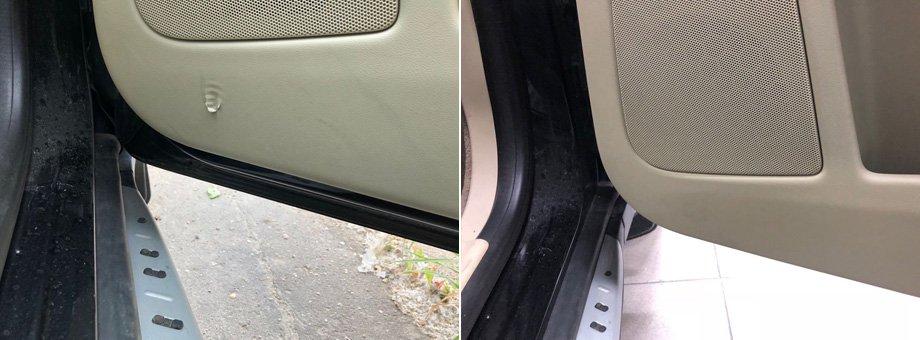 салон автомобиля дырка в двери