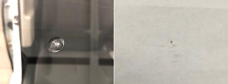 дырка в лобовом стекле