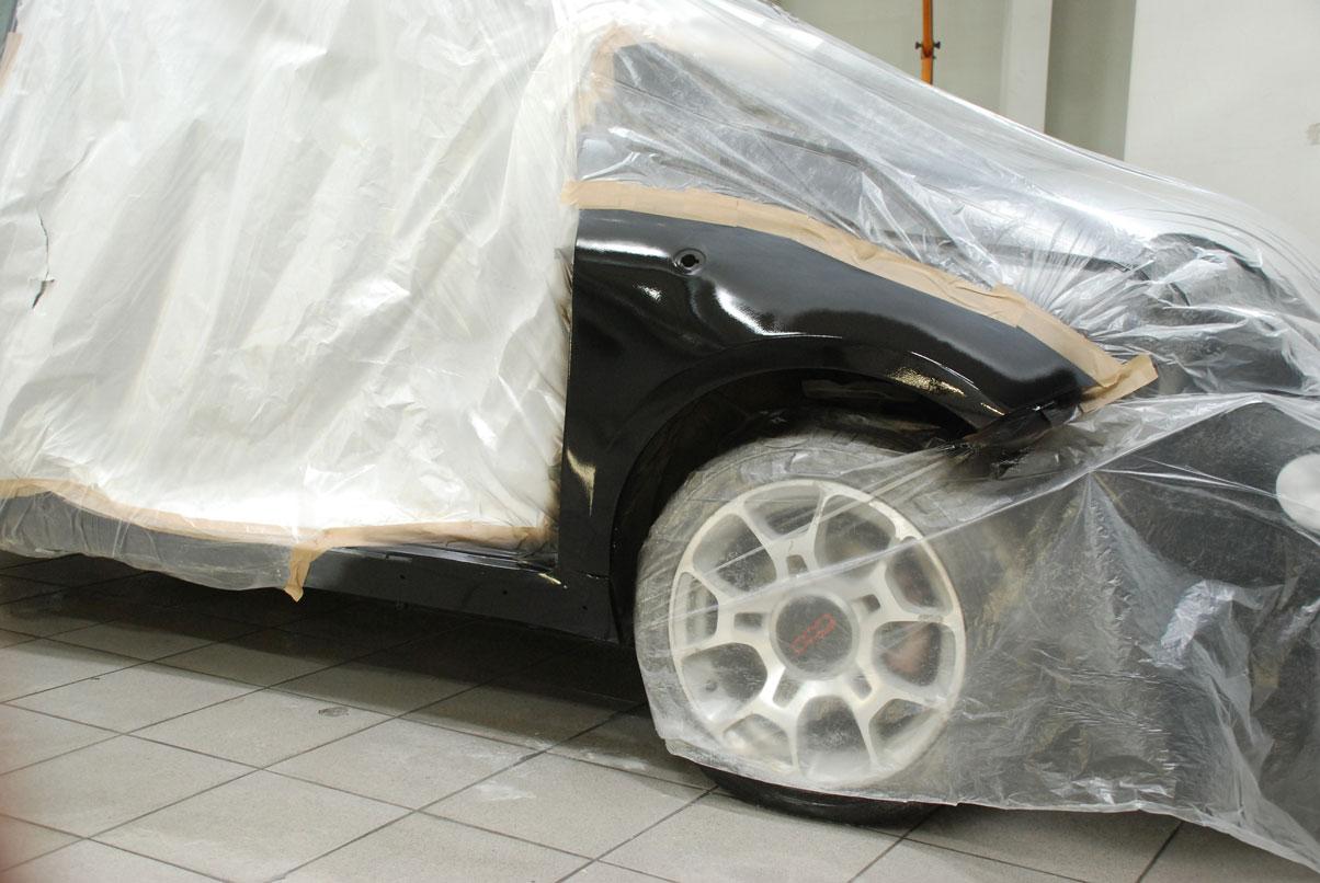 заклееное авто под покраску