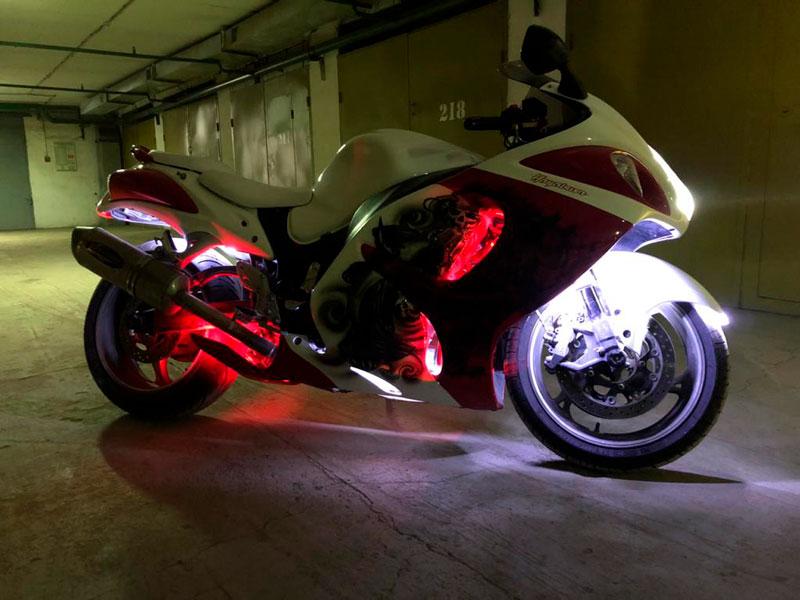 Готовый мотоцикл после ремонта