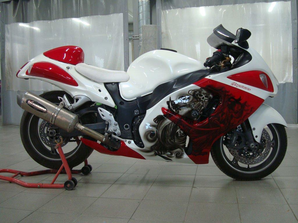 мотоцикл с аэрографией