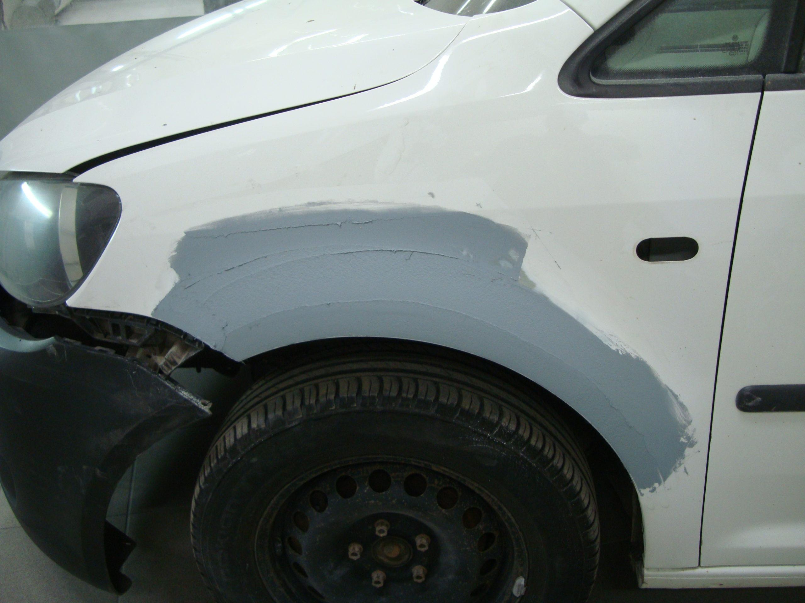 Фольксваген (Volkswagen) крыло зашпаклевали