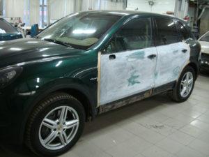 покраска двери автомобиля порш