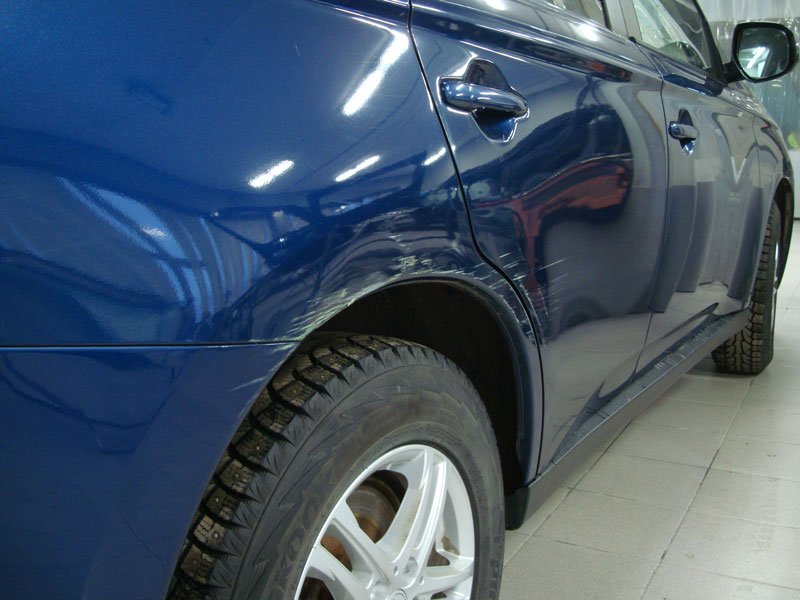 Покраска крыла автомобиля фото 1