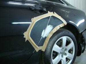ремонт крыла автомобиля ауди