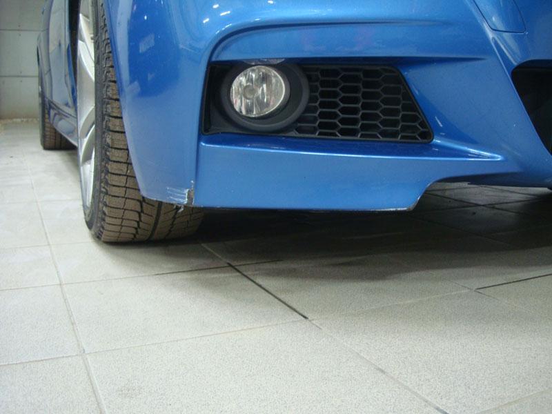 ремонт бампера автомобиля бмв