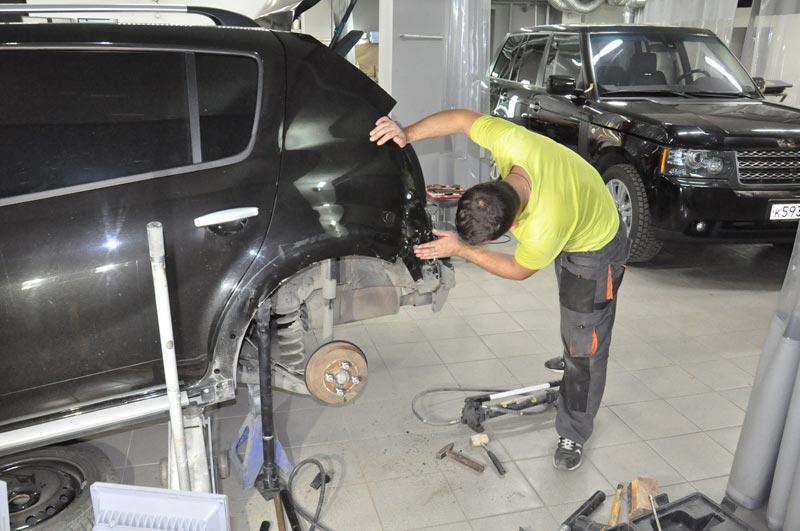 ремонт заднего крыла авто рено