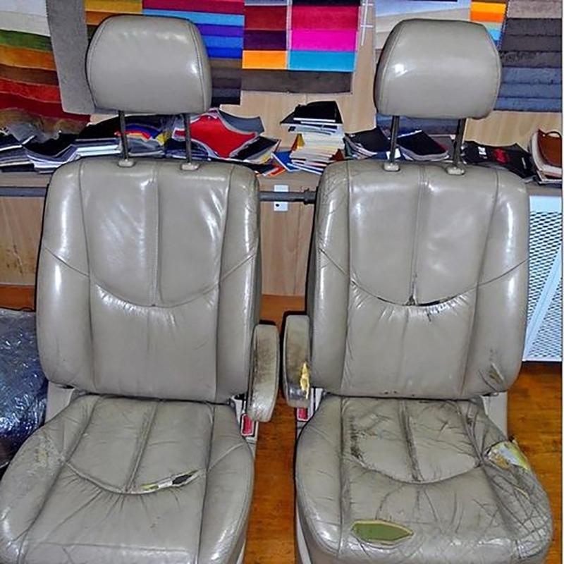 перетяжка сидений салона автомобиля до
