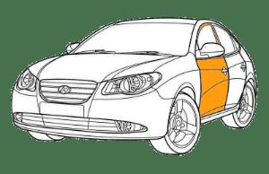 Ремонт двери Хендай (Hyundai)