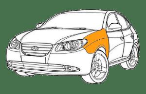 Ремонт крыла Хендай (Hyundai)