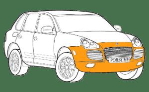 Ремонт бампера Порше (Porsche)
