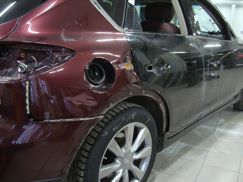 ремонт кузова авто инфинити
