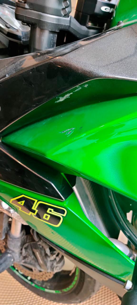 покраска мотобака кавасаки