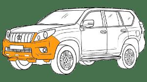 Ремонт бампера Тойота (Toyota)