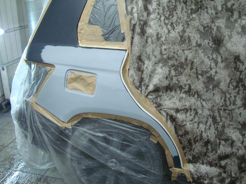 подготовка крыла мерседес к покраске