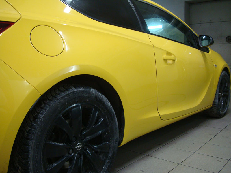 автомобиль опель после покраски