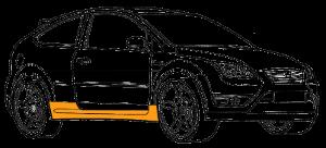Ремонт и локальная покраска порога Форд Эко Спорт (Ford EcoSport)