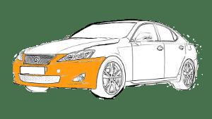 Ремонт бампера Лексус (Lexus)