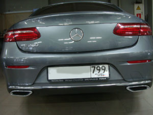 Ремонт и окрас бампера Мерседес Е 200 (Mercedes-Benz E 200)