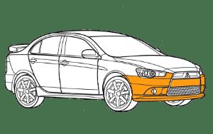 Ремонт бампера Мицубиси (Mitsubishi)