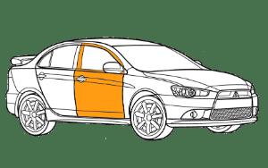 Ремонт дверей Мицубиси (Mitsubishi)