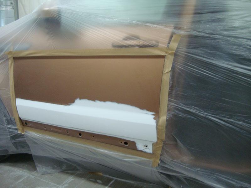подготовка двери рендж ровер к покраске