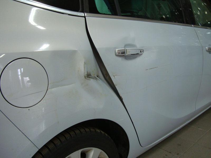 Ремонт заднего крыла Опель Зафира (Opel Zafira) фото 2