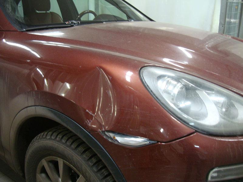 Ремонт переднего крыла и заднего бампера Порше Кайен (Porsche Cayenne)