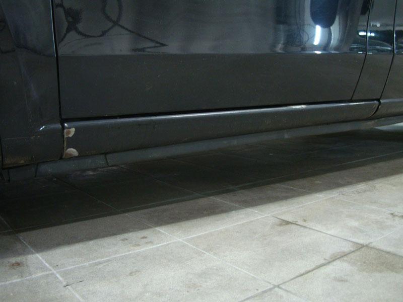 Ремонт двери и удаление ржавчины порога Мерседес Виано (Mercedes Viano)