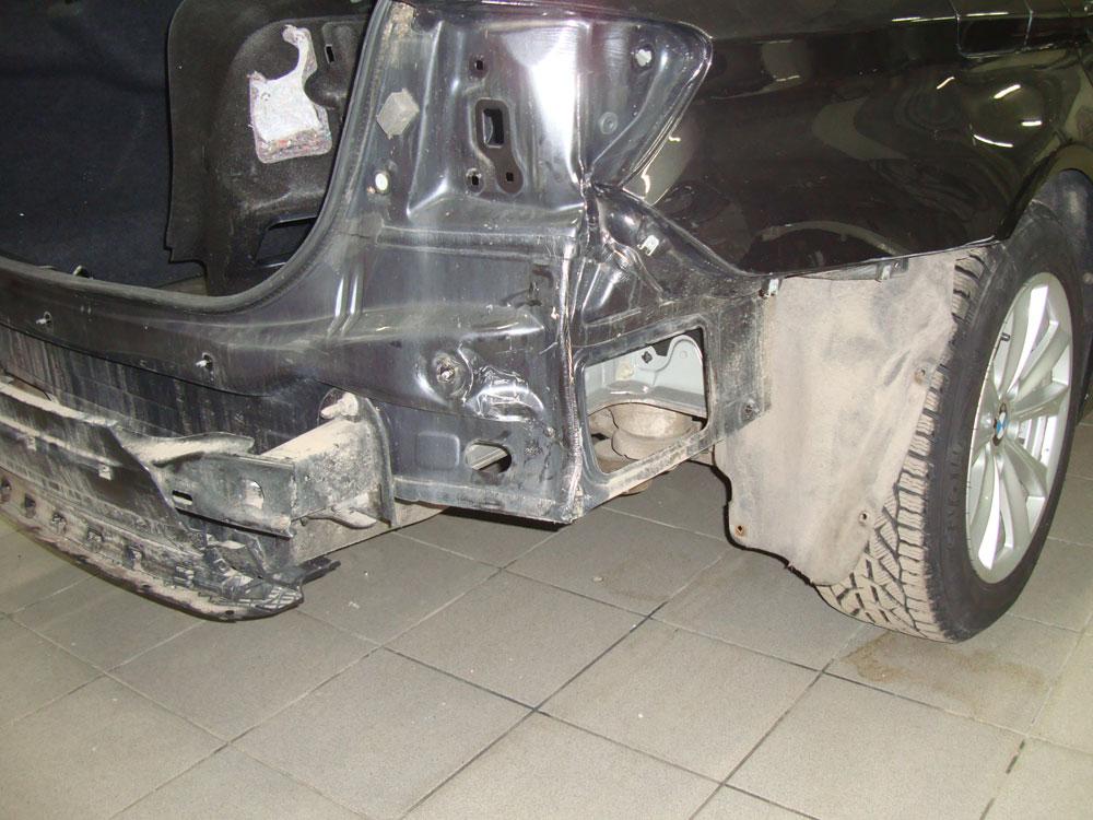 Ремонт бампера и заднего крыла БМВ (BMW) 520