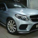 Кузовной ремонт Мерседес Бенц GLE (Mercedes-Benz GLE) после въезда в столб