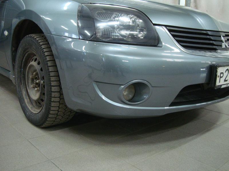 Ремонт и покраска переднего бампера Мицубиси Галант (Mitsubishi Galant)