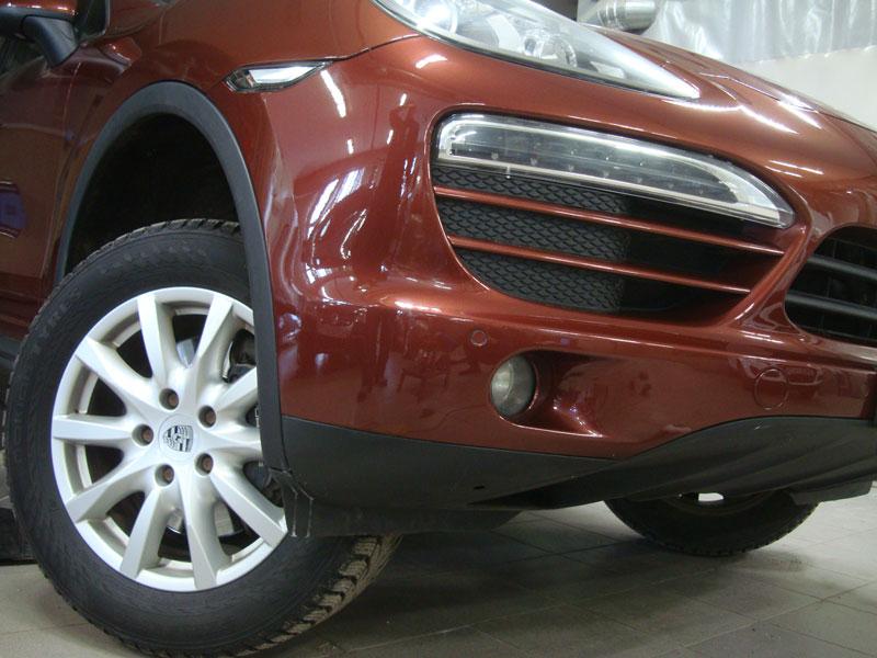 Ремонт и покраска переднего бампера Порш Кайен (Porsche Cayenne)