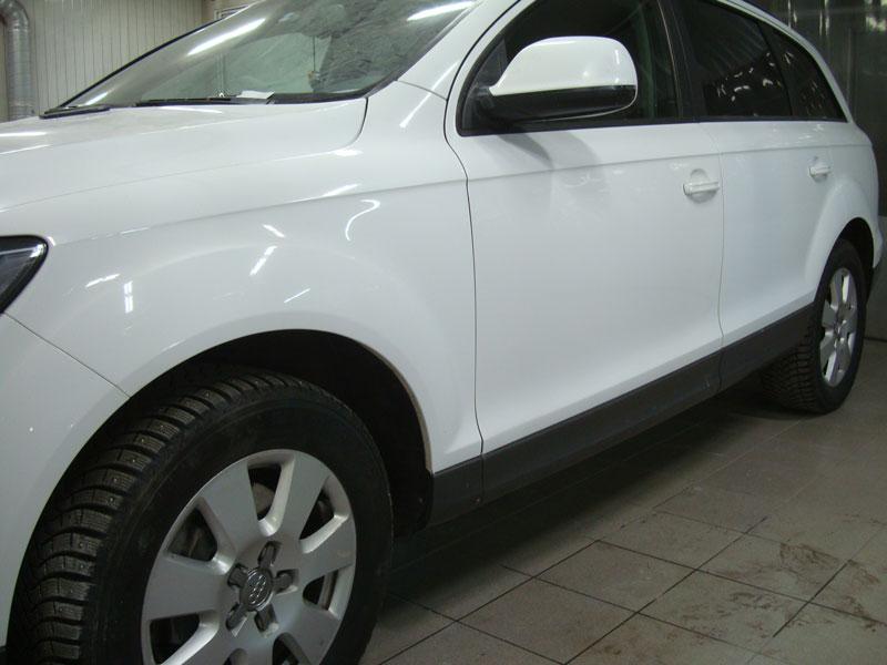 Ремонт и покраска передней левой двери Ауди (Audi) Q7