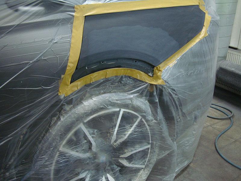 Ремонт и покраска заднего крыла БМВ (BMW) X7