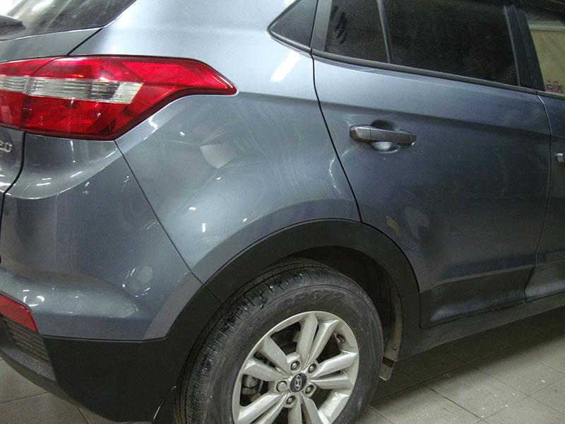Ремонт и покраска заднего крыла Хендай (Hyundai) IX 35