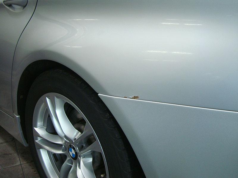 Удаление ржавчины в следствии не качественного ремонта БМВ (BMW) 520