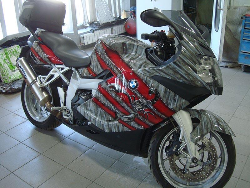 Аэрография на мотоцикле БМВ (BMW)