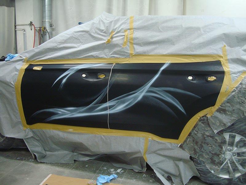 Аэрография на кузове Хендай Санта Фе (Hyundai Santa Fe)