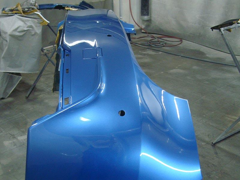 Ремонт и покраска для удаления вмятины бампера БМВ (BMW) 330