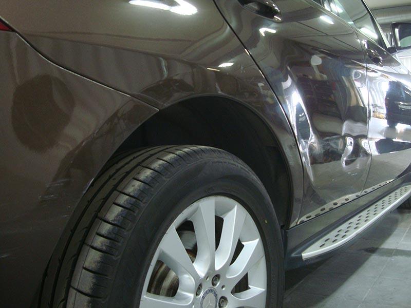Ремонт вмятины задней двери Мерседес (Mercedes) GLE