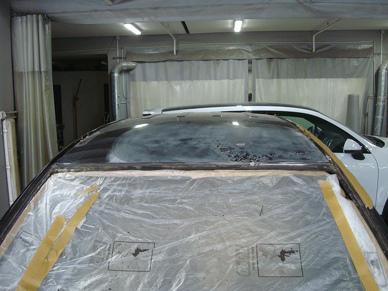 Ремонт вмятины на крыше и замена лобового стекла Шевроле Каптива (Chevrolet Captiva)