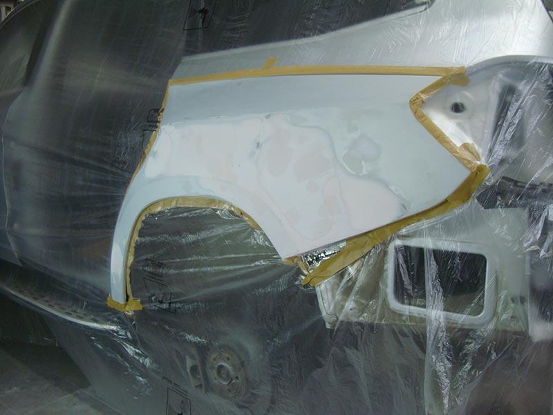 Ремонт бампера и крыла автомобиля Мерседес (Mercedes) GLS